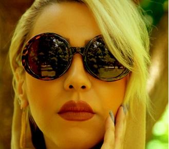 عینک زنانه شانل با طراحي دسته زنجيري