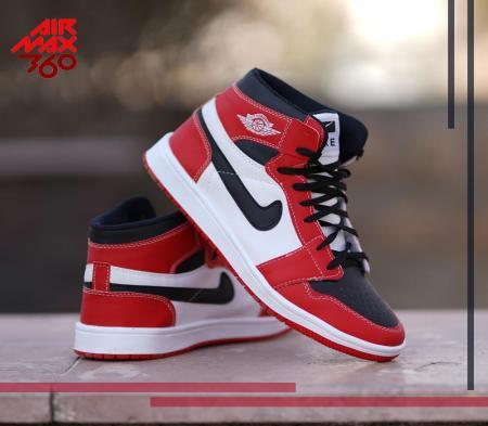 کفش ساقدار ALL STAR 2021(سفید قرمز)