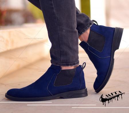 کفش ساقدار مردانه Mita(سورمه ای)